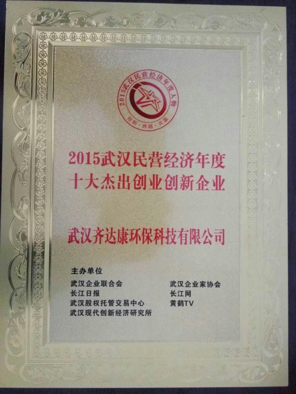 齐达康荣获十大杰出创业创新企业