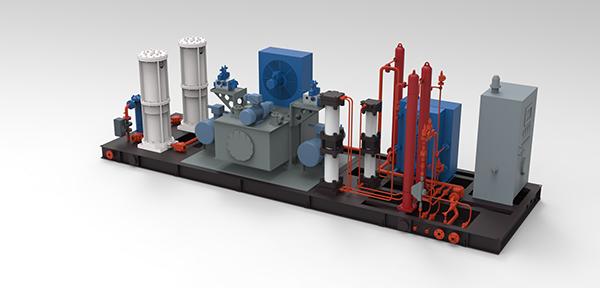 低效气井用气液混输液压压缩机